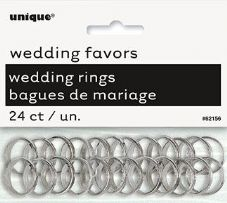 Wedding Favour Rings In Silver